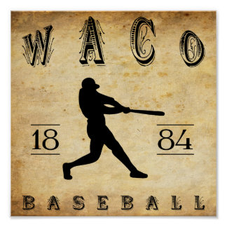 1884 Waco Texas Baseball Print