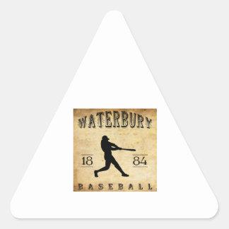 1884 Waterbury Connecticut Baseball Triangle Sticker