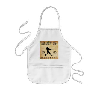 1885 Atlantic City New Jersey Baseball Kids' Apron