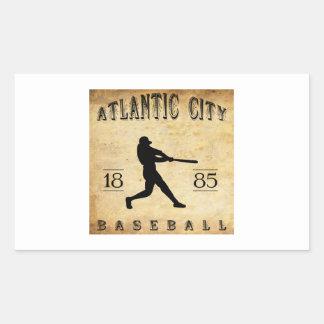 1885 Atlantic City New Jersey Baseball Rectangular Sticker