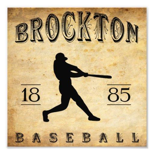 1885 Brockton Massachusetts Baseball Photo Art