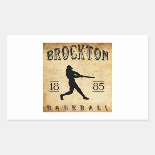 1885 Brockton Massachusetts Baseball Rectangular Sticker