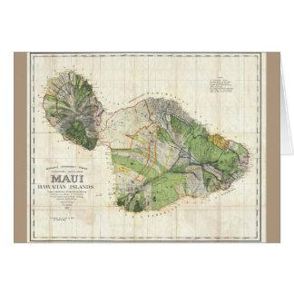1885 De Witt Alexander Map of Maui, Hawaii Card