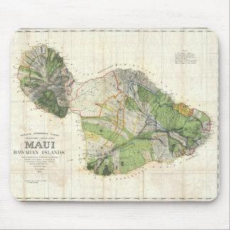 1885 De Witt Alexander Map of Maui, Hawaii Mouse Pad