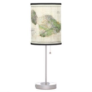 1885 De Witt Alexander Map of Maui, Hawaii Table Lamp