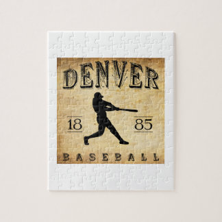 1885 Denver Colorado Baseball Jigsaw Puzzle