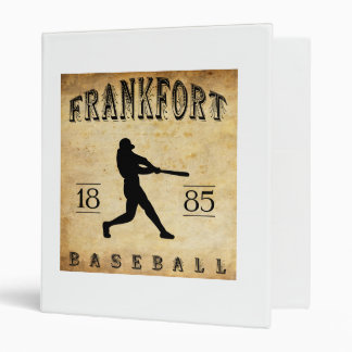1885 Frankfort New York Baseball Binder