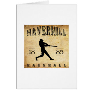 1885 Haverhill Massachusetts Baseball Stationery Note Card