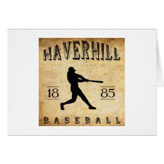 1885 Haverhill Massachusetts Baseball Greeting Card