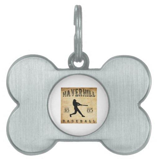 1885 Haverhill Massachusetts Baseball Pet Name Tags