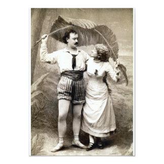 """1885 pares jovenes en amor invitación 5"""" x 7"""""""