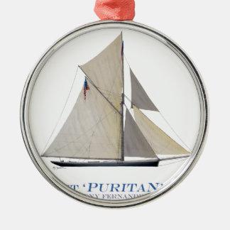 1885 Puritan Metal Ornament