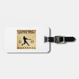 1885 Saratoga Springs New York Baseball Travel Bag Tags