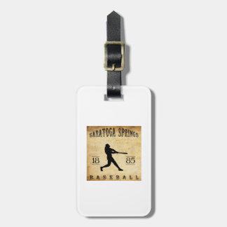 1885 Saratoga Springs New York Baseball Tag For Luggage