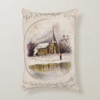 1886: A snowy Victorian winter scene Decorative Pillow