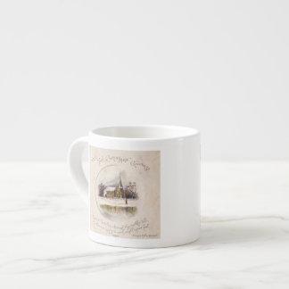 1886: A snowy Victorian winter scene Espresso Cup