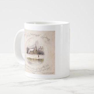 1886: A snowy Victorian winter scene Giant Coffee Mug