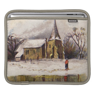 1886: A snowy Victorian winter scene iPad Sleeves