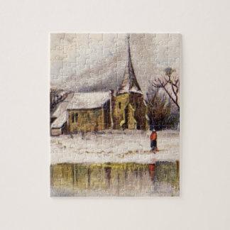 1886: A snowy Victorian winter scene Jigsaw Puzzle