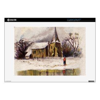 1886: A snowy Victorian winter scene Laptop Skin