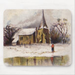 1886: A snowy Victorian winter scene Mouse Pads