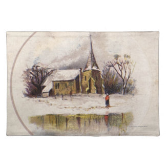 1886: A snowy Victorian winter scene Placemat