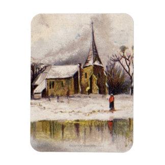 1886: A snowy Victorian winter scene Rectangular Photo Magnet