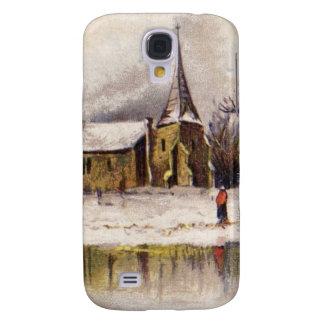 1886: A snowy Victorian winter scene Samsung S4 Case