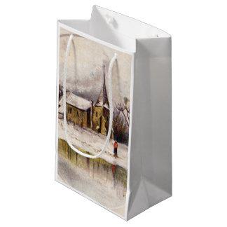 1886: A snowy Victorian winter scene Small Gift Bag