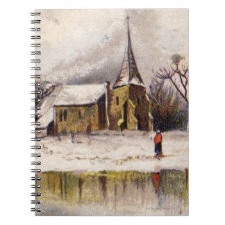 1886: A snowy Victorian winter scene Spiral Notebook