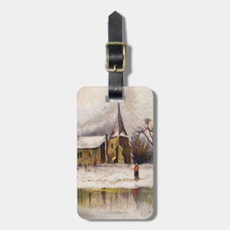 1886: A snowy Victorian winter scene Tag For Luggage
