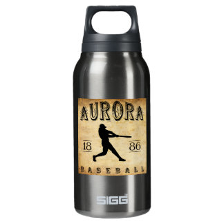 1886 Aurora Illinois Baseball Insulated Water Bottle