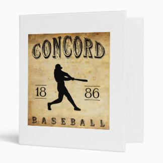 1886 Concord New Hampshire Baseball 3 Ring Binder