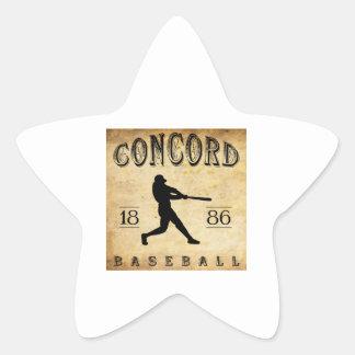 1886 Concord New Hampshire Baseball Star Stickers