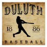 1886 Duluth Minnesota Baseball Poster