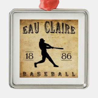 1886 Eau Claire Wisconsin Baseball Metal Ornament