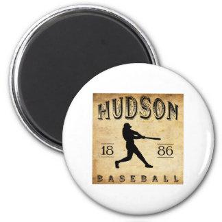1886 Hudson New York Baseball Magnet