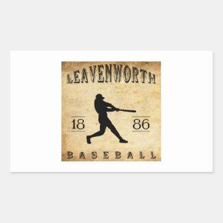 1886 Leavenworth Kansas Baseball Rectangular Sticker