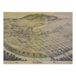 1886 Old El Paso City Map Poster