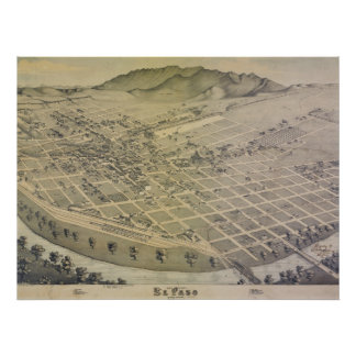 1886 Old El Paso City Map Poster