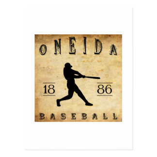 1886 Oneida New York Baseball Postcard
