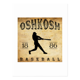 1886 Oshkosh Wisconsin Baseball Postcard