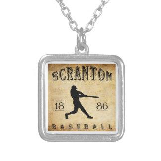 1886 Scranton Pennsylvania Baseball Necklace