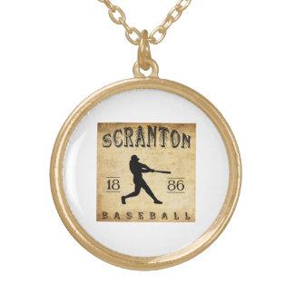 1886 Scranton Pennsylvania Baseball Pendant