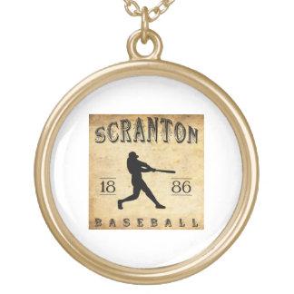 1886 Scranton Pennsylvania Baseball Custom Necklace