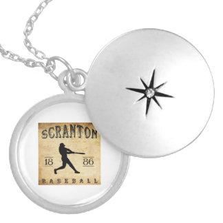 1886 Scranton Pennsylvania Baseball Personalized Necklace