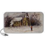 1886: Una escena nevosa del invierno del Victorian iPod Altavoces