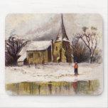 1886: Una escena nevosa del invierno del Victorian Alfombrillas De Ratones