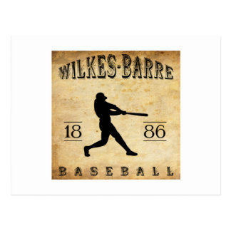 1886 Wilkes-Barre Pennsylvania Baseball Postcard