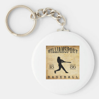 1886 Williamsport Pennsylvania Baseball Basic Round Button Keychain